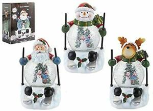 Musical Light Up Christmas Water Ball Skiing Xmas Icons With Snow Globe Belly Ebay