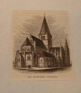 1877-Revue-Gravure-Drontheim-Cathedrale-Norvege