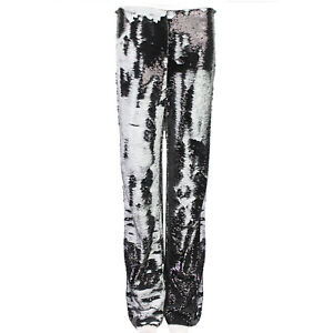 MSGM-Onyx-Grey-White-Flip-Sequin-Wide-Leg-Trousers-IT42-UK10