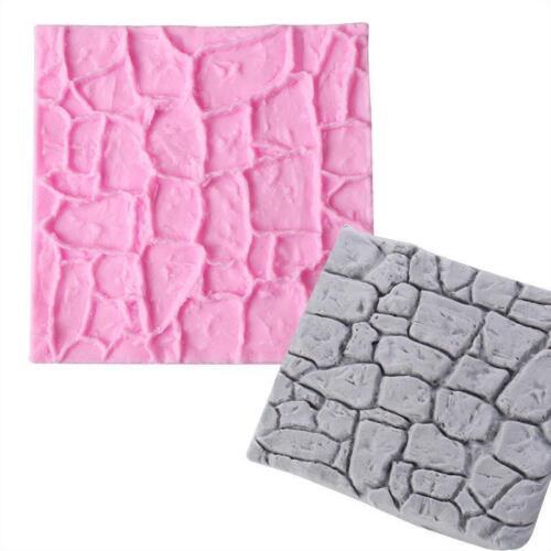 Silicone Stone Brick Cake Decorating Mat Sugarcraft Fondant Mould Home DIY Tool