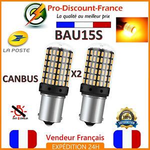 Capable 2 X Ampoule Canbus 144 Led Bau15s Orange Voiture Feux Jour Clignotant Py21w Paquet éLéGant Et Robuste