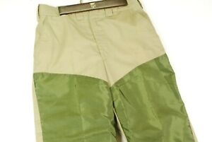 Vintage-LL-Bean-Script-Brush-Briar-Hiking-Pants-Khaki-Green-Mens-32