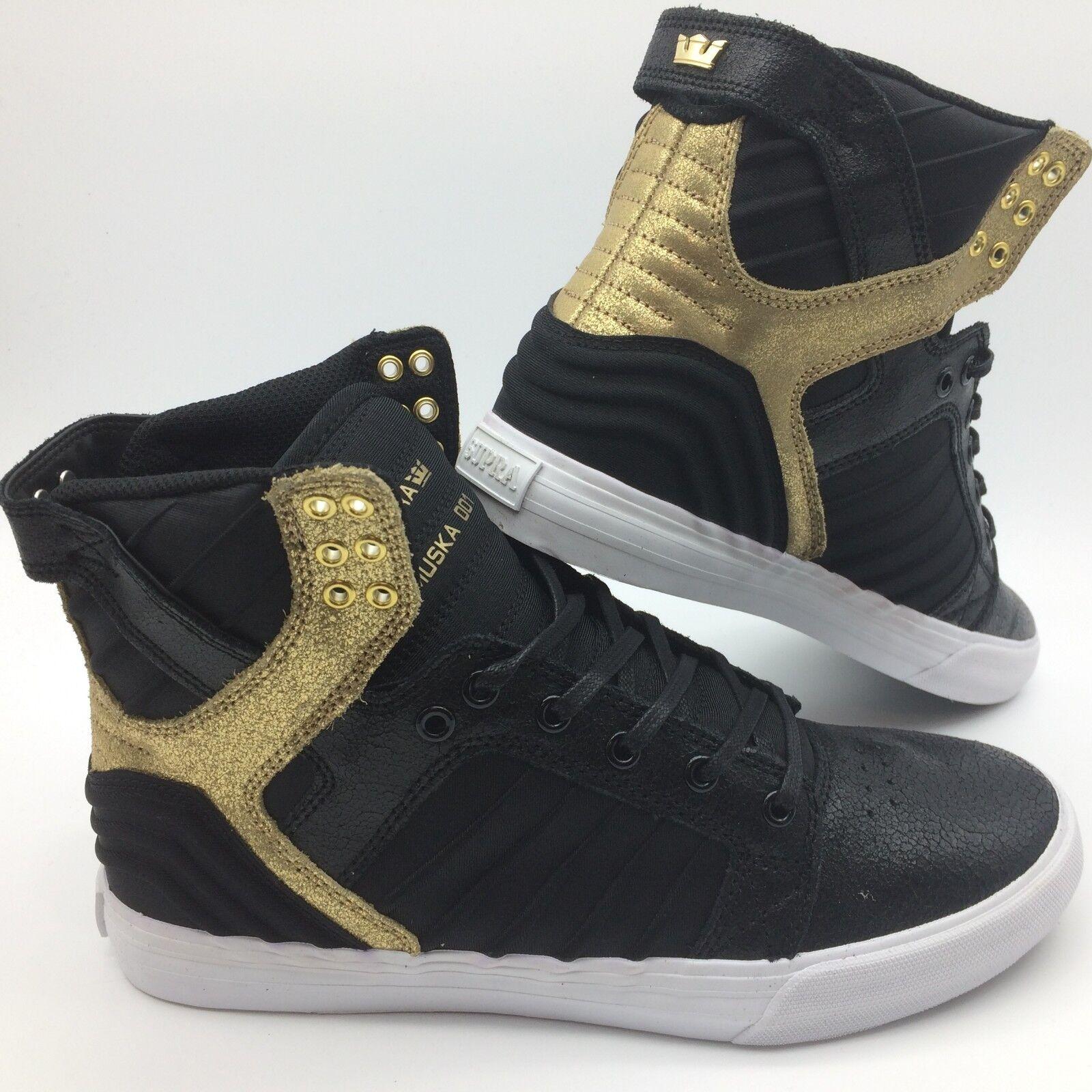 Supra Hombre Zapatos' Skytop Evo '' Negro Dorado blancoo