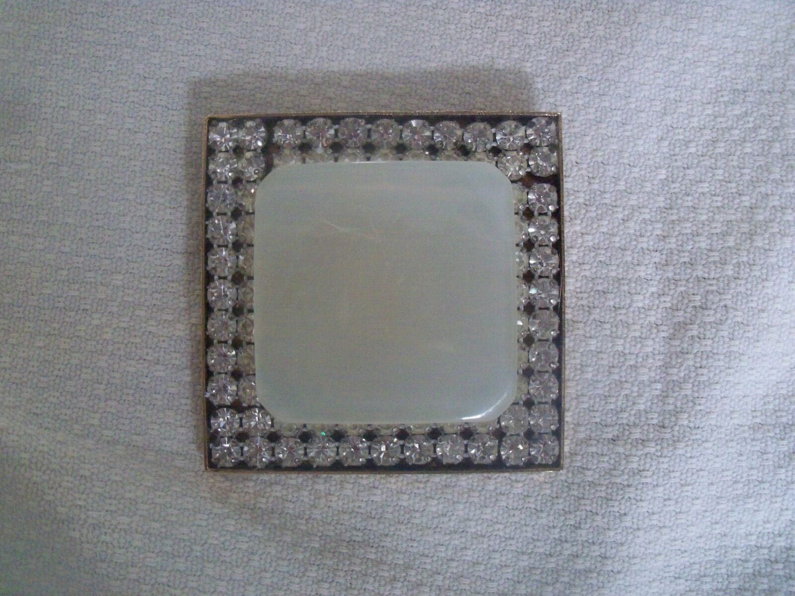 VINTAGE LARGE RHINESTONE AND SYNTHETIC MOTHER OF … - image 1