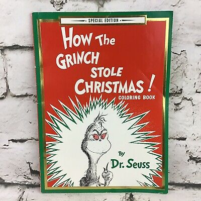 Grinch Coloring Book How the Grinch Stole Christmas Coloring Book Special Edition