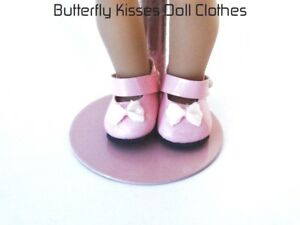 d1f5eaf9dfa64 Details about Pink Bow Mary Jane Shoes Doll Clothes Fits 6 in Mini American  Girl Doll & Riley