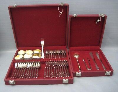 800er Silber Kuchenbesteck/frühstückbesteck Für 12-personen 46 Teile.(84-0218) Ein Unbestimmt Neues Erscheinungsbild GewäHrleisten