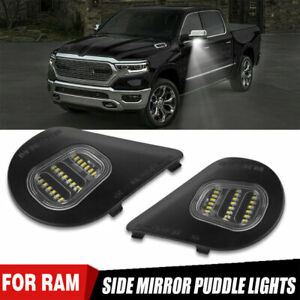 2x 24LED Side Mirror Puddle Light White For Dodge Ram 1500 2500 3500 2010-19