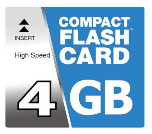 4Gb Compact Flash Mapa Cf Tarjeta de Memoria para Nikon D70