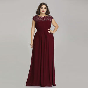 0b60075d6c2 Image is loading Ever-Pretty-Plus-Size-Bridesmaid-Dresses-Lace-Party-