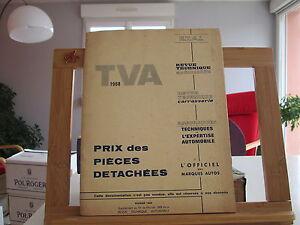 REVUE-TECHNIQUE-AUTOMOBILE-PRIX-DES-PIECES-DETACHEES-FEVRIER-1968-TBE