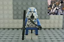 Lego Star Wars Clone Wars Airborne Trooper Clone Commander Keller Custom 1 pcs