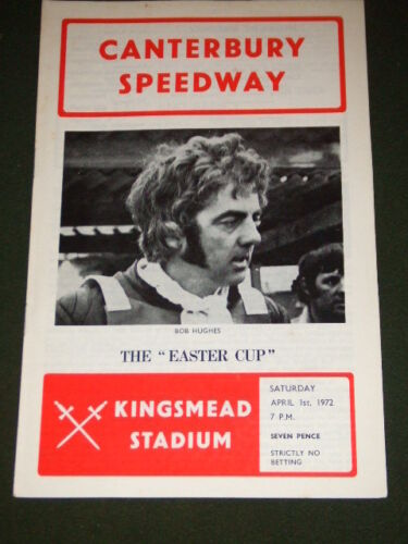SPEEDWAY CANTERBURY EASTER CUP APRIL 1 1972