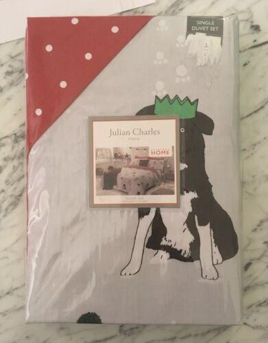 Julian Charles Christmas Single Duvet Set Santa Paws Dogs
