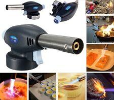 Blow Torch Butane Gas Flamethrower Burner Welding Auto Ignition soldering BBQ UK