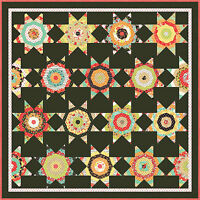 Moda Fabric Chestnut Street Midnight Quilt Kit By Fig Tree Quilts