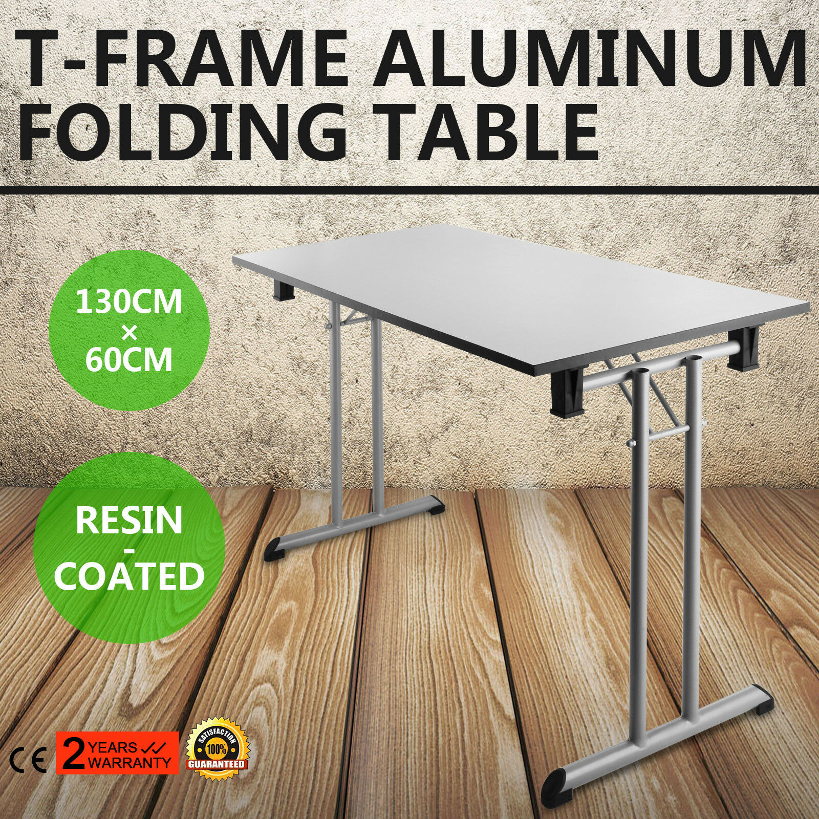25''x52'' Folding Table T-frame aluminum Light-weight High-quality Plastic