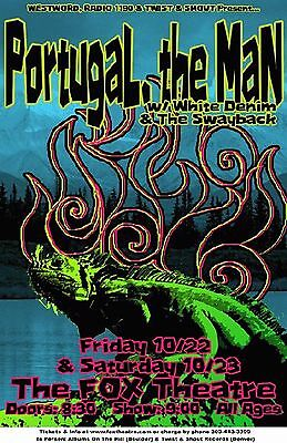 Portugal. The Man Concert Poster NEW 2010 Original Handbill 11x17