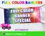 2/' x 10/' Full Color Custom Vinyl Banner Free Shipping birthday meeting sign