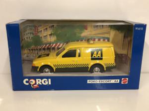 Corgi-91610-Ford-Escort-Aa-Van-Jaune-Noir-1-43-Echelle