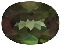 Rare Andesine Labradorite, Oval Green & Red Color Change, 12x8mm Loose Gemstones