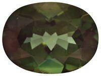 Rare Andesine Labradorite, Oval Green & Red Color Change, 12x8mm Loose Gemstones