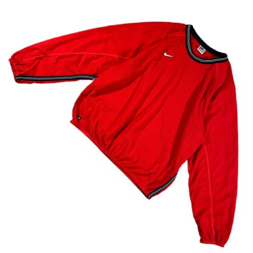 VINTAGE 90s Nike Mens Sweatshirt Red XL Swoosh Fle