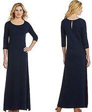 Joan Vass Black Easy Interlock Dress Size 0 (4-6)