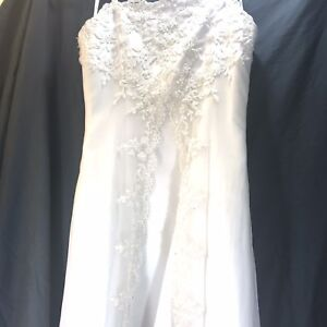 9aacbf6ef5a Davids Bridal Spaghetti-Strap A-Line Gown Flower Girl Dress Size 14 ...