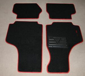 Classic fiat 500 1964-75 Left-Hand Drive Mat Rug 4 Piece Set with