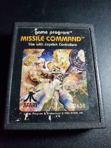 Missile Command Pic Label ATARI 2600 EXMT condition game cartridge