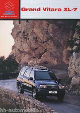 Prospekt 2002 Suzuki Grand Vitara XL 7 2 02 car brochure Autoprospekt Auto Pkw