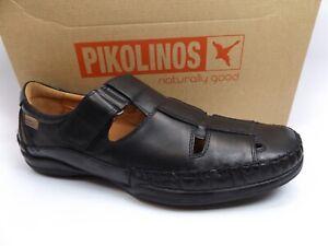 eba8c07be23 Pikolinos Men s San Telmo Closed Toe Sandal M1D-1011 Black Leather ...