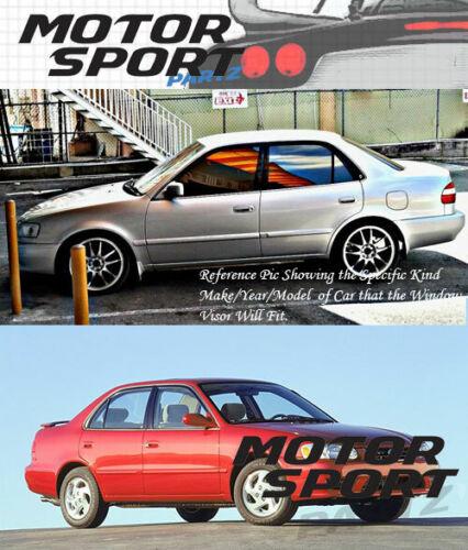 4pcs Dark Smoke Out-Channel Visor Rain Guards For Toyota Corolla Sedan 1998-2002