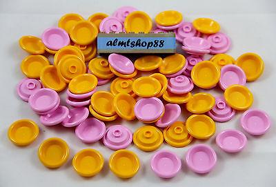 LEGO - Yellow & Pink Dish Plates Lot - Bowl Cooking Eating Food Kitchen Bulk