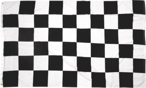 5x8 ft Black and White Checkered Flag Rough Tex Knitted 5/'x8/' Banner