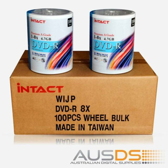 600 X Intact DVD blank disc media - Printable DVD-R discs matt - 8X - 100pk