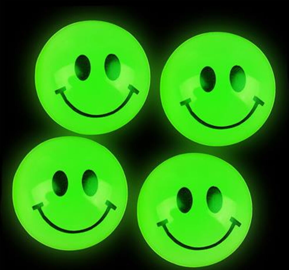 1720 Hallowee Bouncy Ball 1  Bounce Super Bulk Glow Dark Smiley Face Bulk Smile