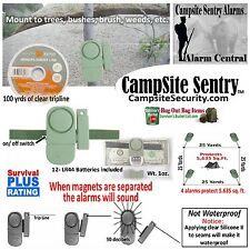 (4) Camp Alarm- Military style trip alarms-100yds trip line covers 5650sq.ft.