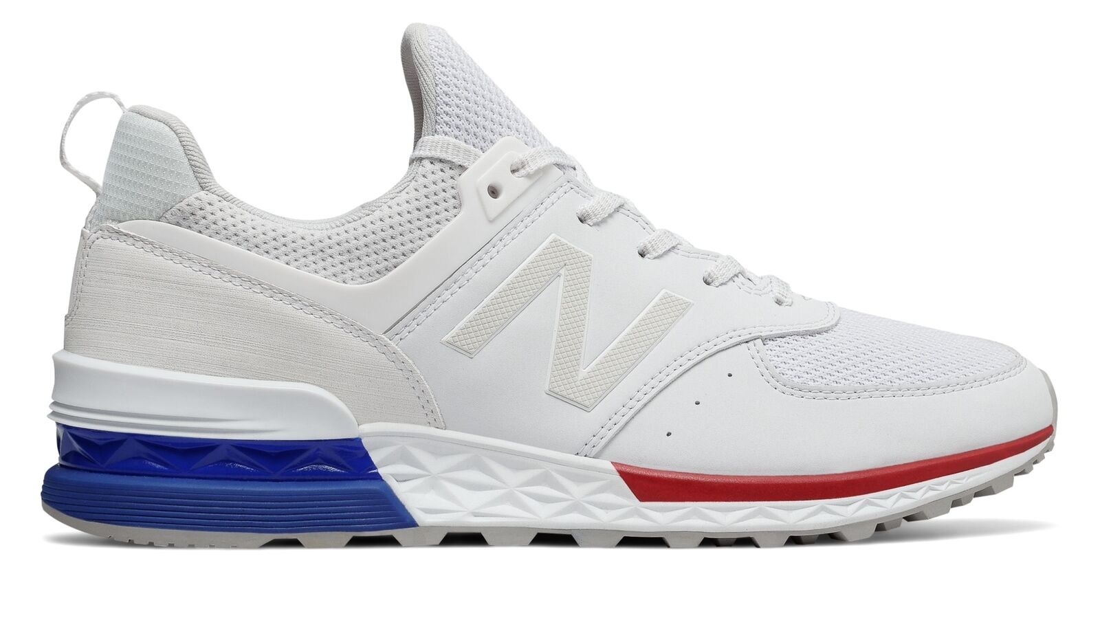 New Balance hommes 574 Sport Chaussures blanc with bleu
