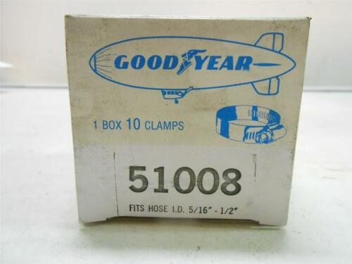 """GOODYEAR CLAMPS FITS HOSE I.D LOT OF 10 1//2/"""" 5//16/"""" 51008"""