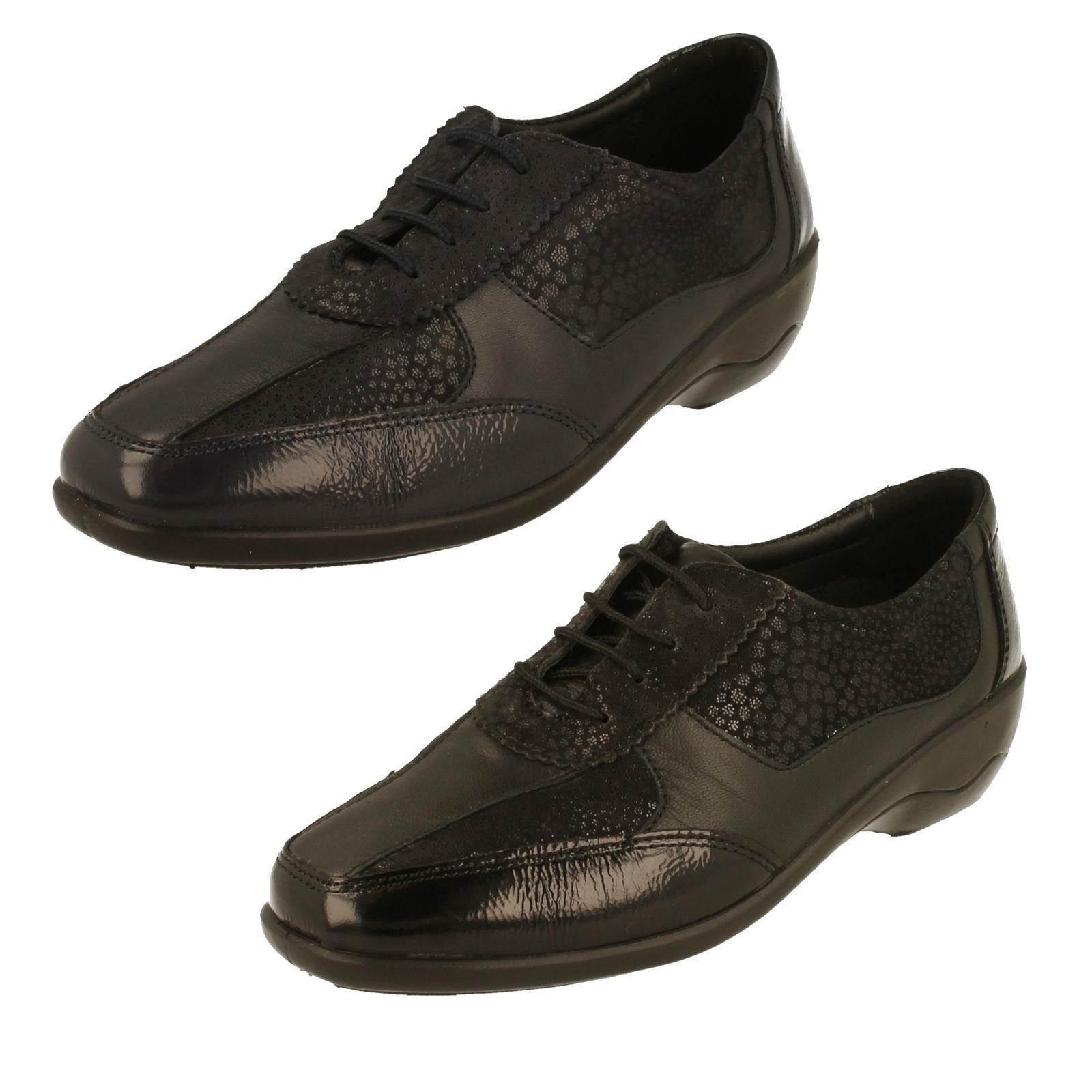 Padders Mujer Dual Fit (E  2E) Zapato de Cuero con Cordones - Cuarzo