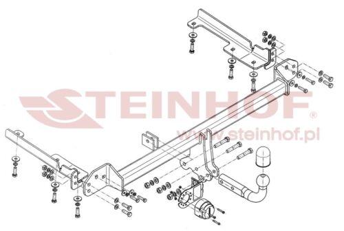 Tow bar for Honda CRV 2014 to 2018 Honda CRV IV Tow barSwan NeckH-081