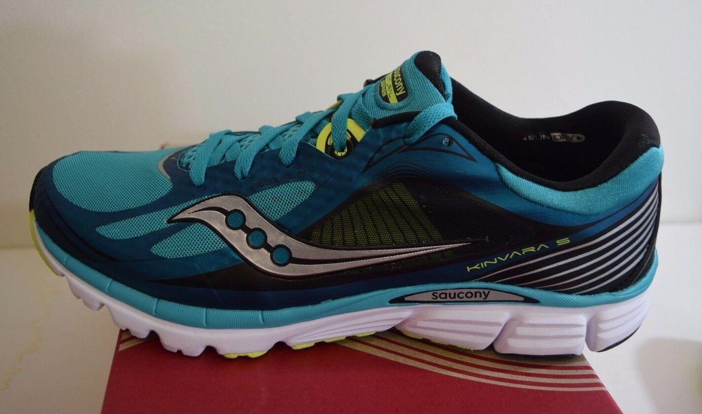 381b79d341a1 Saucony Kinvara Kinvara Kinvara 5 Men s Running Racing Training Shoes Blue  - Black 12 790300