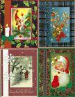 Handmade VINTAGE CHRISTMAS CARDS #CV3-Lot of 4