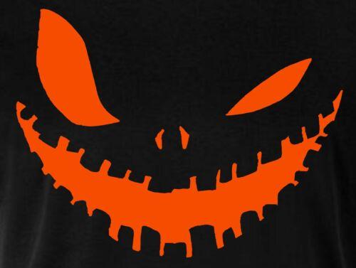 Pumpkin Face Halloween T Shirt Black