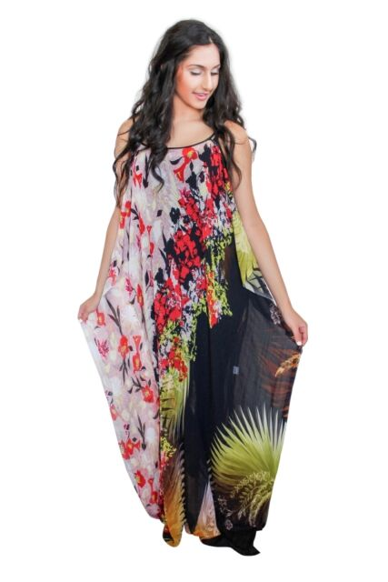 Womens PLUS SIZE maxi dress boho sheer summer dress 70s maxi dress floral dress