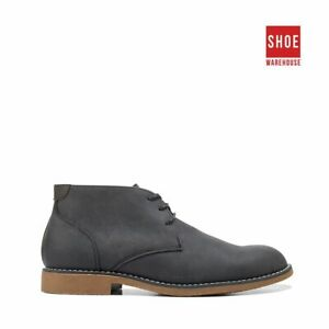 Hush Puppies TERMINAL Black Mens Ankle Boot Casual Leather Boots