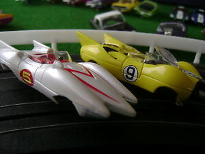 NOS SOLD OUT AW Ultra G Both Speed Racer Set Cars HO Slot Car Bodies Fit Aurora