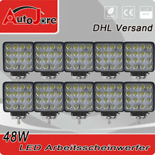 10x48W LED Arbeitsscheinwerfer 12V Arbeitslampe Anhänger Traktor Trecker Stapler